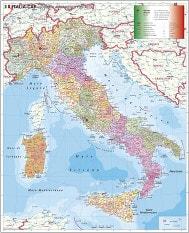 Italien Postleitzahlen Karte PLZ Karte 97 x 118cm