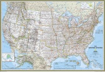 Politische USA Karte (Standardformat)