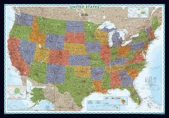 Decorator USA Karte (Standardformat)