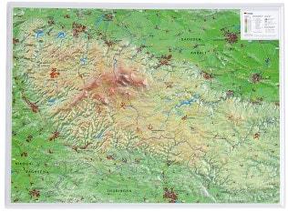 3D Reliefkarte Harz