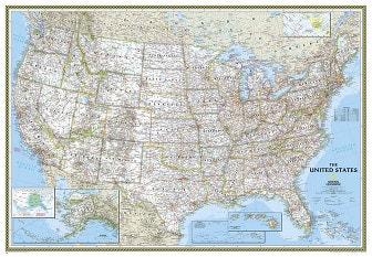Politische USA Karte (Großformat)