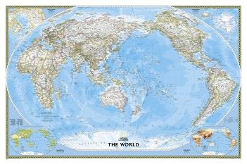 Politische Weltkarte Pazifik Ansicht